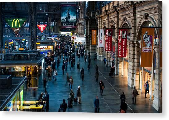 Frankfurt Germany Main Train  Station Canvas Print