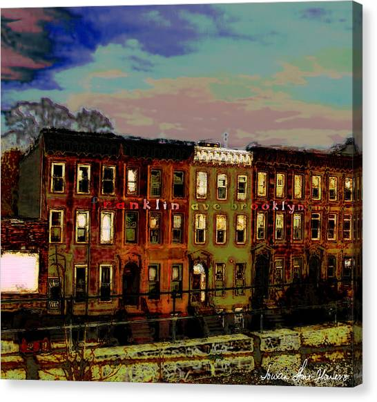 Franklin Ave. Bk Canvas Print