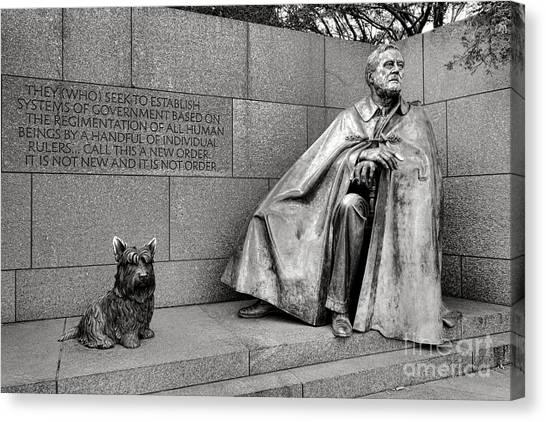 Franklin D. Roosevelt Canvas Print - Franklin Delano Roosevelt Sculpture  by Olivier Le Queinec