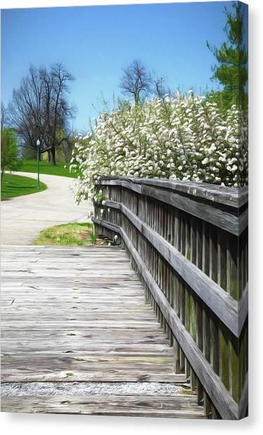 Botanical Garden Canvas Print - Franklin Park Conservatory Footbridge by Tom Mc Nemar