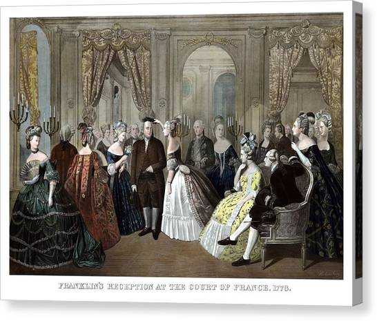 Revolutionary War Canvas Print - Franklin's Reception At The Court Of France by War Is Hell Store