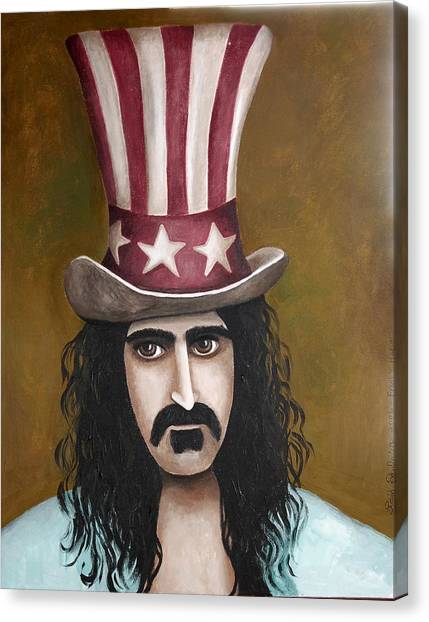 Frank Zappa Canvas Print - Franks Hat by Leah Saulnier The Painting Maniac