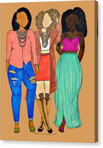 Young Girl Canvas Print - Franz 2 by Diamin Nicole