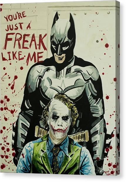 Heath Ledger Canvas Print - Freak Like Me by James Holko