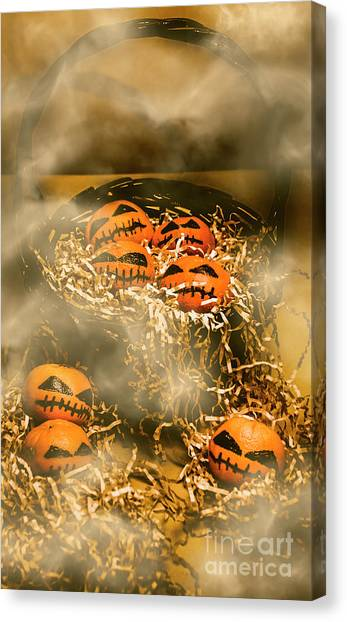 Fruit Baskets Canvas Print - Freaky Halloween Fruits by Jorgo Photography - Wall Art Gallery
