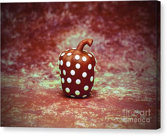 Freckled Bell Pepper Canvas Print