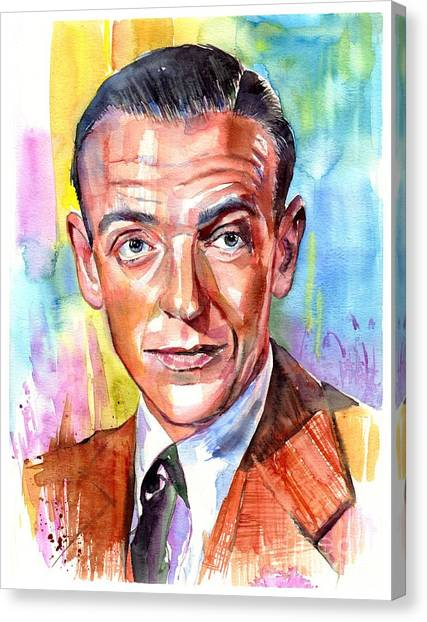 Michael Jackson Canvas Print - Fred Astaire Painting by Suzann's Art