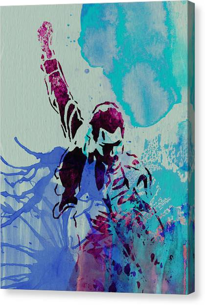 Queens Canvas Print - Freddie Mercury by Naxart Studio