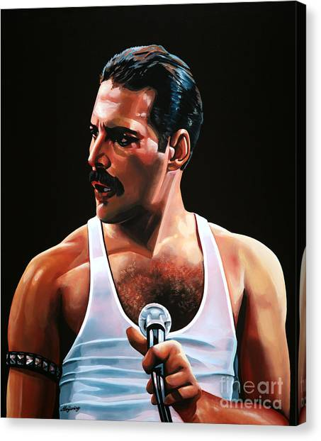 Queens Canvas Print - Freddie Mercury by Paul Meijering