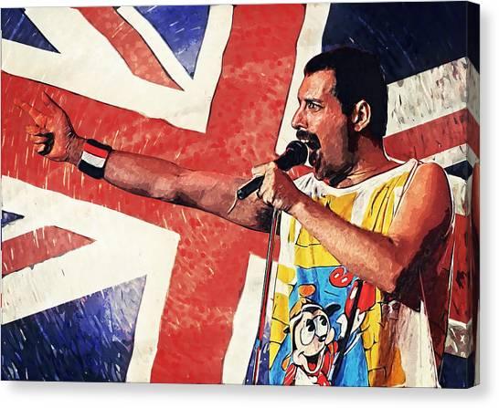 Pink Floyd Canvas Print - Freddie Mercury by Taylan Apukovska