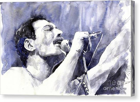 Mercury Canvas Print - Freddie Mercury by Yuriy Shevchuk