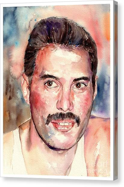 Mercury Canvas Print - Freddie Smiling by Suzann's Art