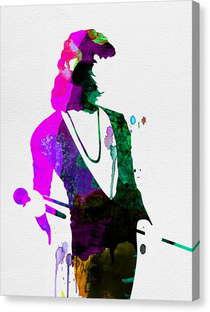 Classical Guitars Canvas Print - Freddie Watercolor by Naxart Studio
