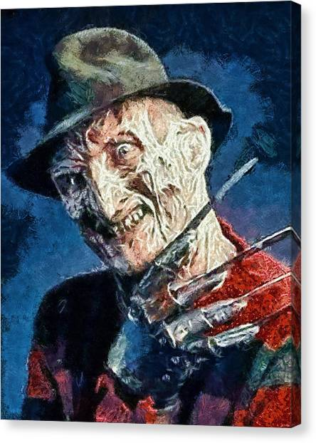 Freddy Kruegar Canvas Print
