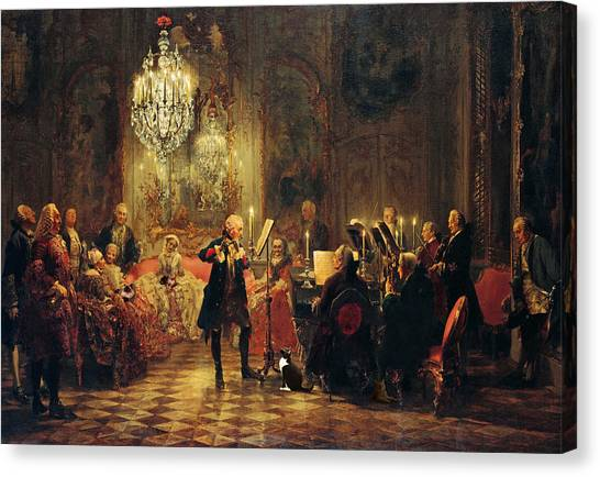 Himalayan Cats Canvas Print - Frederick The Great And Cats by Kathleen Horner