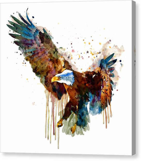 Free And Deadly Eagle Canvas Print