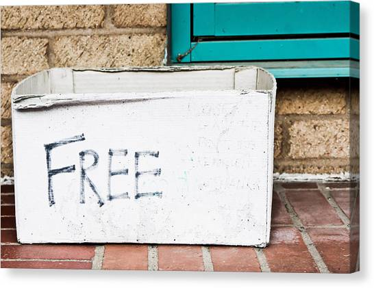 Charities Canvas Print - Free Box by Tom Gowanlock
