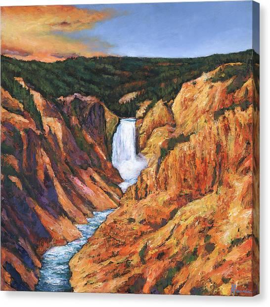Yellowstone National Park Canvas Print - Free Falling by Johnathan Harris