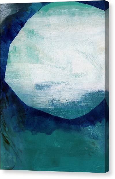 Blue Canvas Print - Free My Soul by Linda Woods
