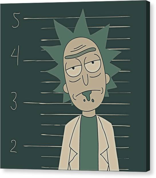 Canvas Print featuring the digital art Free Rick by Rick And Morty
