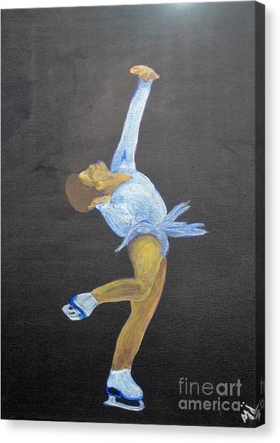 Canvas Print featuring the painting Free by Saundra Johnson