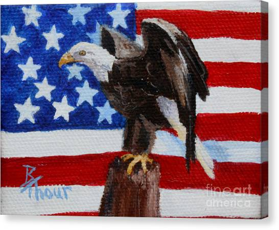 Freedom Aceo Canvas Print