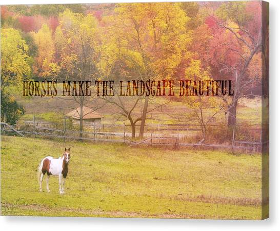 Freedom Farms Quote Canvas Print by JAMART Photography