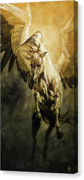 Pegasus Canvas Print - Freedom by Heather Theurer