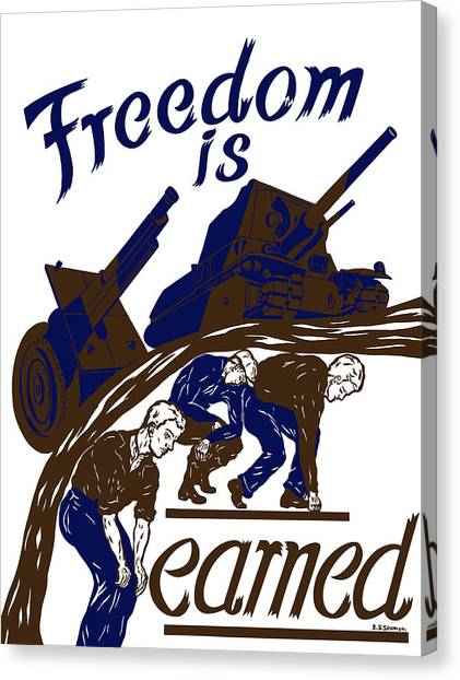 Tanks Canvas Print - Freedom Is Earned - Ww2 by War Is Hell Store