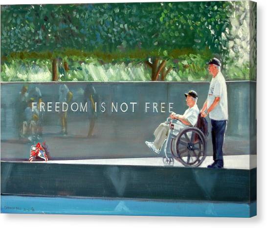 Freedom Is Not Free Canvas Print by Gordon Bell