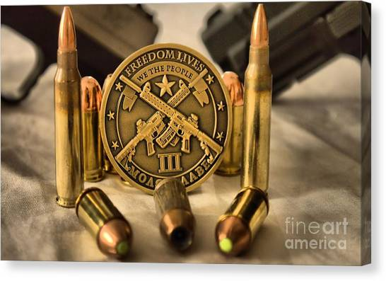Nra Canvas Print - Freedom Lives by Arthur Herold Jr