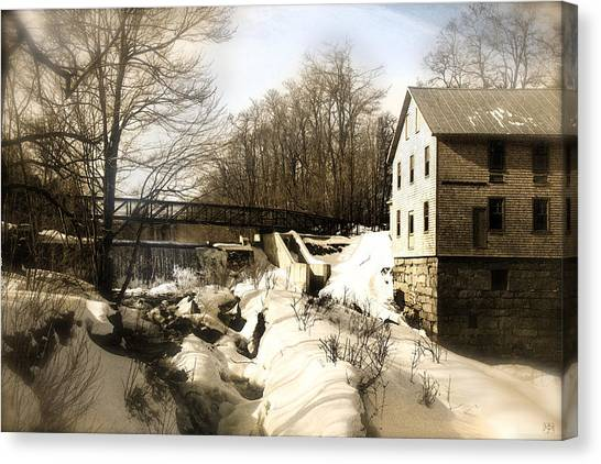Freedom Mill Stream Canvas Print