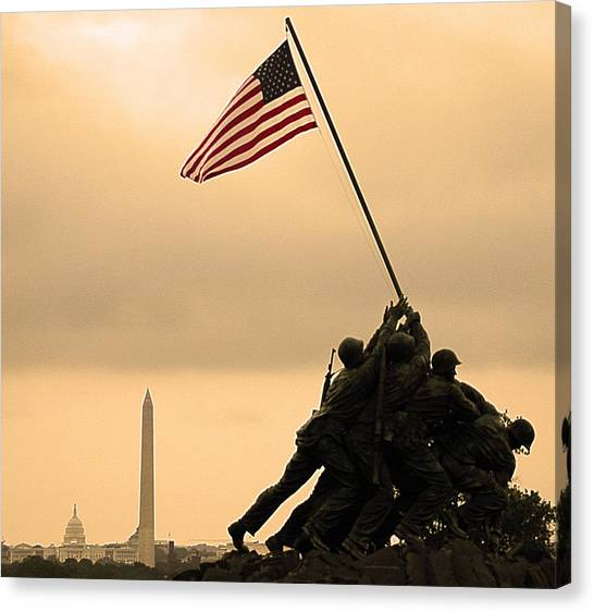 Washington Monument Canvas Print - Freedom by Mitch Cat