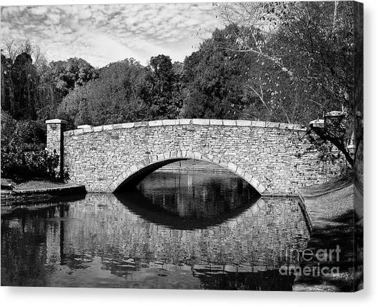 Freedom Park Bridge In Black And White Canvas Print