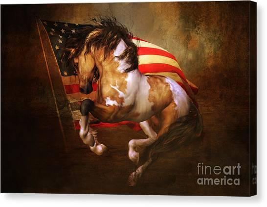 Freedom Run Canvas Print
