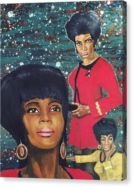 Uhura Canvas Print - Freedom Star  by Corella Fairchild