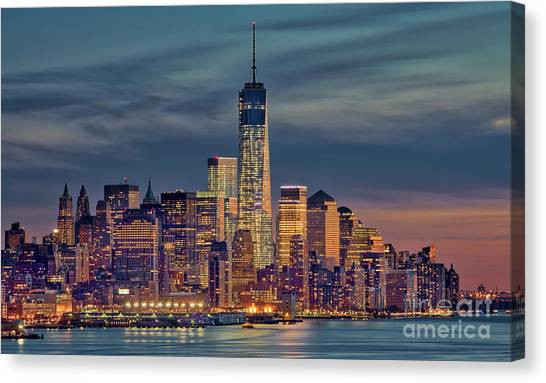 Freedom Tower Construction End Of 2013 Canvas Print