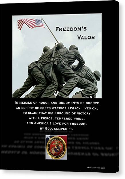 Freedom's Valor II Canvas Print by Patrick J Maloney