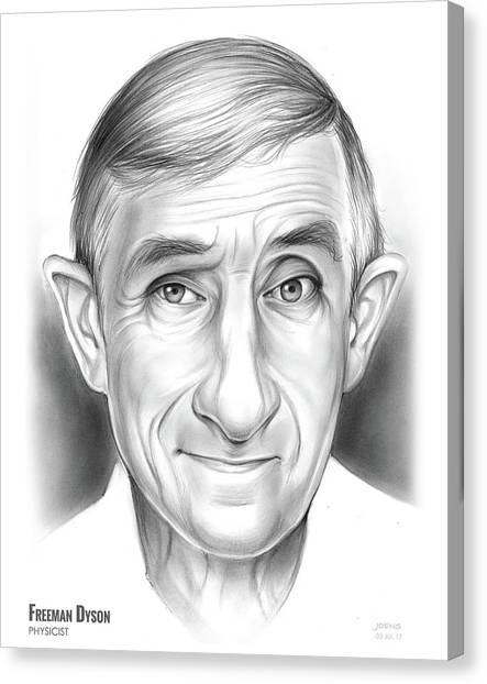 Engineering Canvas Print - Freeman Dyson by Greg Joens