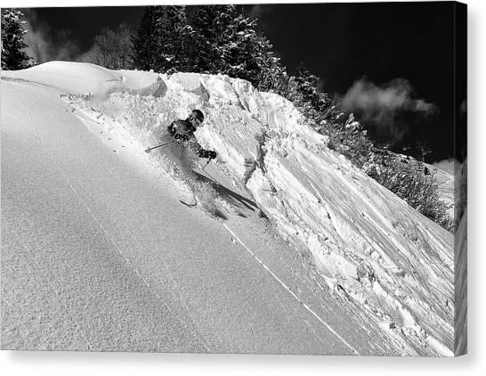 Skiing Canvas Print - Freeride by Marcel Rebro