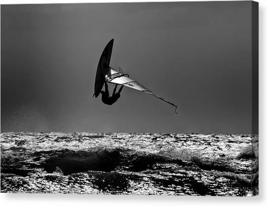 Acrobatic Canvas Print - Freestyle by Stelios Kleanthous