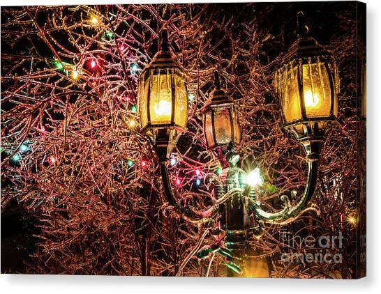 Christmas Lamp Canvas Print
