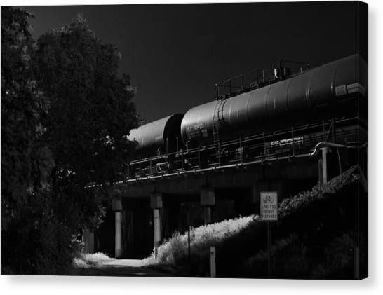 Freight Over Bike Path Canvas Print
