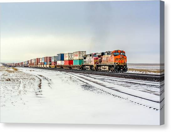 Trains Canvas Print - Freight Train by Todd Klassy