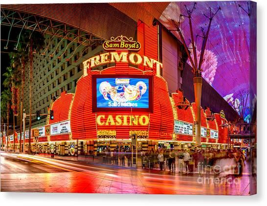 Nevada Canvas Print - Fremont Casino by Az Jackson