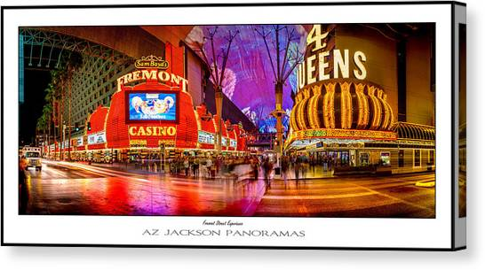 Traffic Canvas Print - Fremont Street Experience Poster Print by Az Jackson