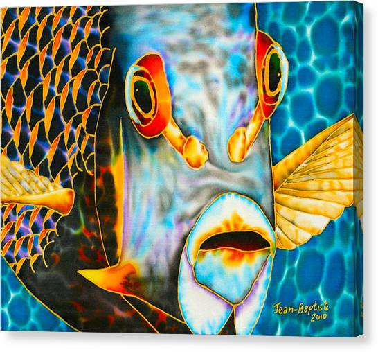 French Angelfish Face Canvas Print