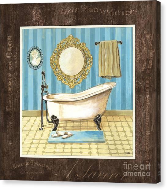 Throw Canvas Print - French Bath 1 by Debbie DeWitt