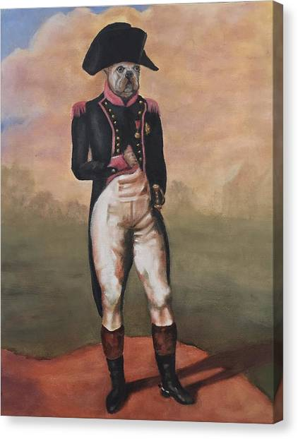 French Bull Dogs Canvas Print - Napoleon, French Bull Dog by Sandy Gillig