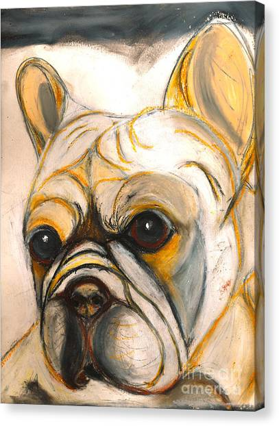 French Bulldog Drawing Canvas Print